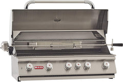 Bull BBQ Brahma 38-Inch 5-Burner Built-In Grill with Rear Infrared Burner