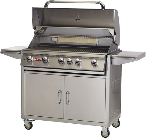 Bull BBQ Brahma 38-Inch 5-Burner Freestanding Grill with Rear Infrared Burner