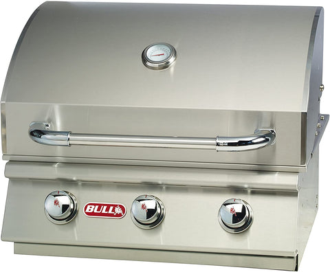 Bull BBQ Steer Premium 25-Inch 3-Burner Built-In Grill - 69009/69008