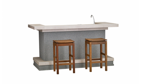 Bull Outdoor Entertainer's Bar Stucco - 31031
