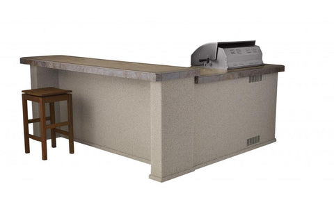 Bull Outdoor Grills Stucco Mesquite Q Island Kitchen - 31043