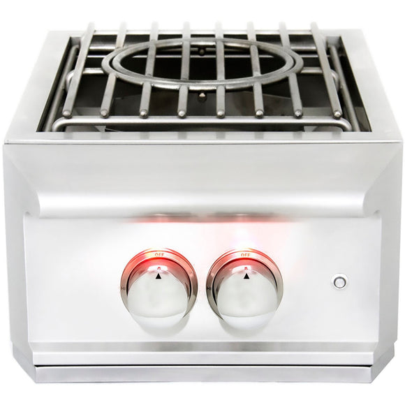 Heat 16 inch power burner w lights HTS-PBL-LP Propane - front - M&KGRills