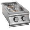 Image of Heat 2X Side Burner w/ Lights HTS-SB2-LP Propane - M&K Grills