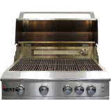 Heat 32 4-Burner HTS-432-LP Propane Built-in Grill - Open - M&KGrills
