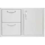 Heat 32 Door Drawer Combo HTX-DR-DRWR Dry Pantrry - front - M&KGRills
