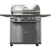 Image of Heat 32-Inch 4-Burner HTS-432-LPC Propane Grill on Cart - M&K Grills