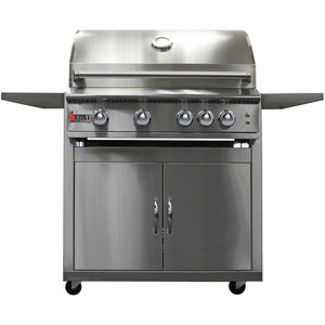 Heat 32-Inch 4-Burner HTS-432-NGC Gas Grill on Cart - M&K Grills