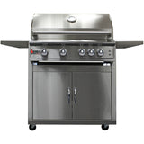 Heat 32 inch 4-Burner HTS-432-NGC Gas Grill on Cart - closed- M&KGrills