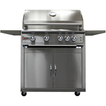 Heat 40-Inch 5-Burner HTS-540-LPC Propane Grill on Cart - M&K Grills