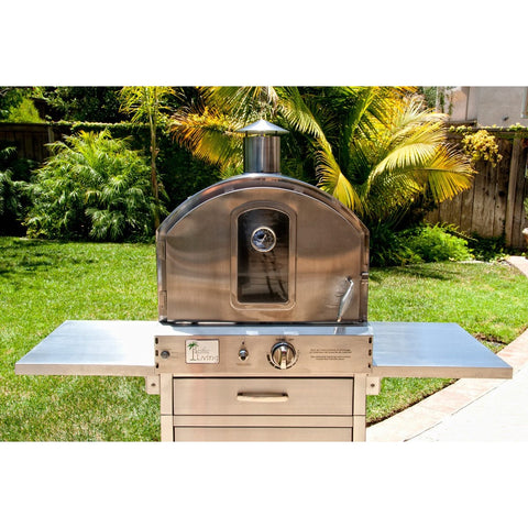 Pacific Living Outdoor pizza oven Oven W/cart - M&K Grills