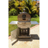 Pacific Living Outdoor Gas Oven storage door open