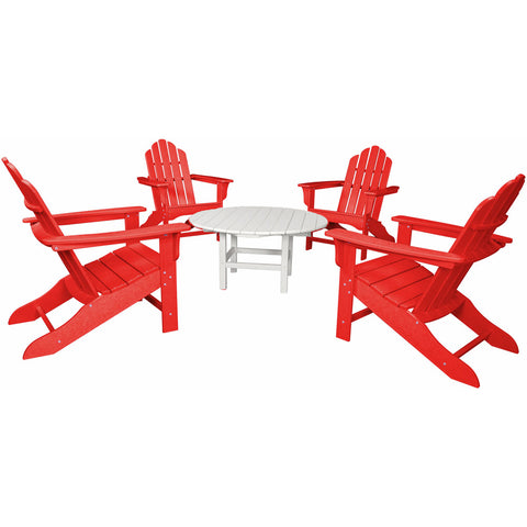 Hanover All-Weather 5pc Ad Chat Group 4 Ad Chairs 1 38-Inch Table - M&K Grills