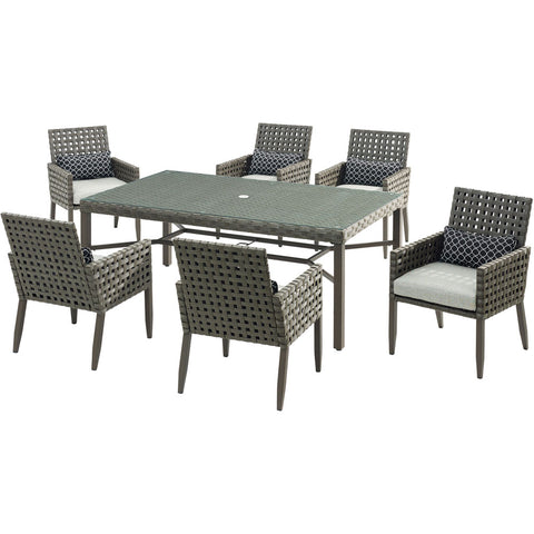 hanover-archer-7-piece-dining-set-6-woven-dining-chairs-42x72-inch-dining-table-archdn7pc-slv