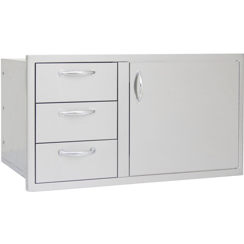 Blaze 39-Inch Access Door and Triple Drawer Combo BLZ-DDC-39-R - M&K Grills