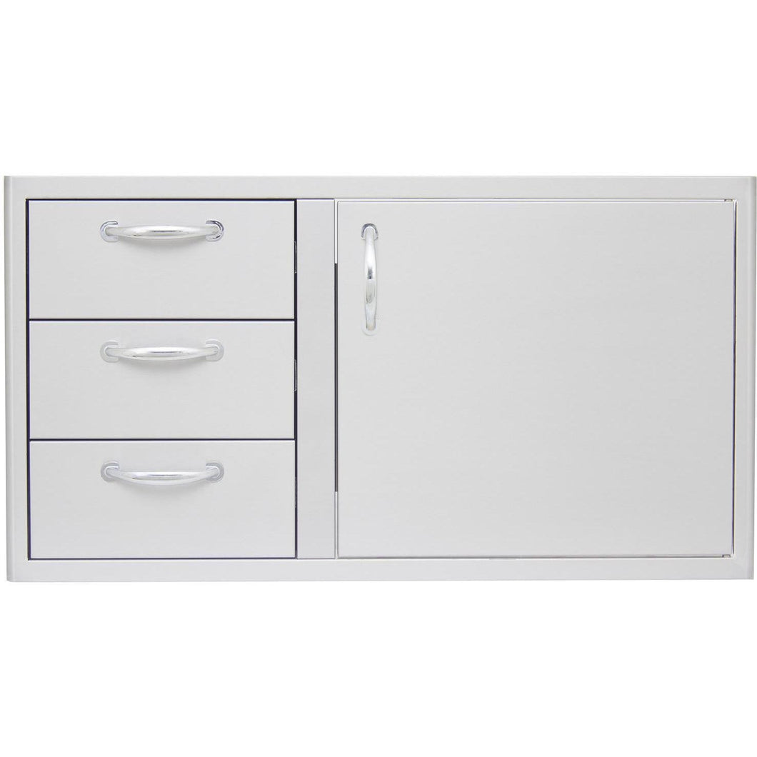 blaze-39-inch-access-door-and-triple-drawer-combo-blz-ddc-39-r-front-view-mnk-grills