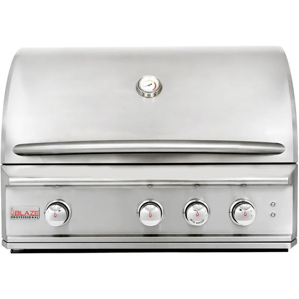 "Blaze 34"" Professional W/Infrared Burner BLZ-3PRO Built-In Grill - Front closed"