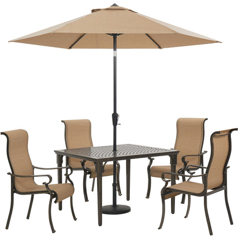 hanover-brigantine-5-piece-4-sling-dining-chairs.-42-inch-square-cast-table-umbrella-and-base-brigdn5pcsq-su