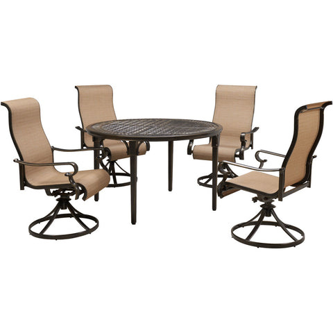 hanover-brigantine-5-piece-4-sling-swivel-chairs-and-50-inch-round-cast-table-brigdn5pcswrd