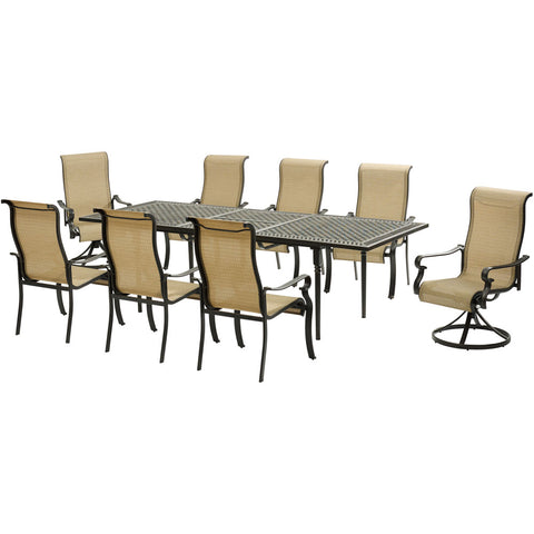 hanover-brigantine-9-piece-6-sling-dining-chairs-2-sling-swivel-rockers-exp-cast-table-brigdn9pcsw2-ex