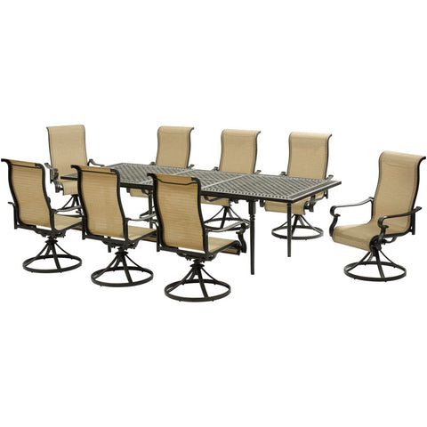 hanover-brigantine-9-piece-8-sling-swivel-rockers-expandable-cast-dining-table-brigdn9pcsw8-ex