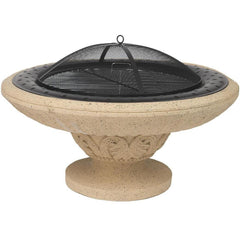 Alpine Flame 35-Inch Bowl Design Wood Burning Fire Pit With Accessories - M&K Grills