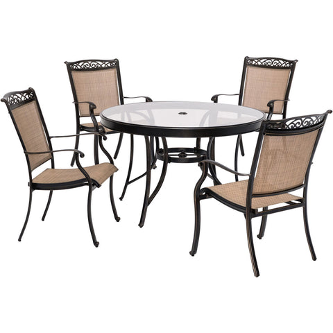 hanover-5-piece-dining-set-48-inch-round-glass-top-table-4-sling-dining-chairs-includes-cover-fntdn5pcg-sc