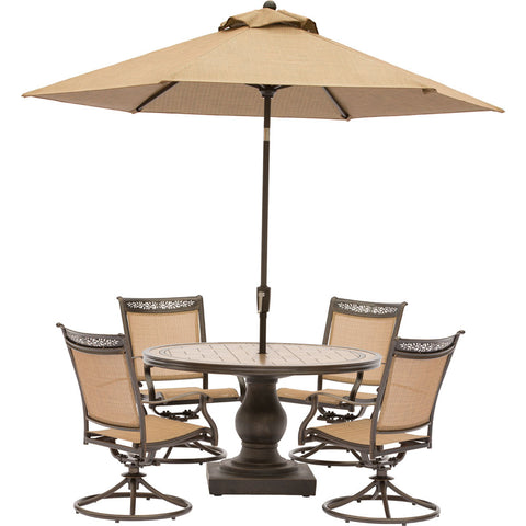 hanover-fontana-5-piece-4-sling-swivel-rockers-51-inch-round-tile-top-table-umbrella-fntdn5pcswtn-su