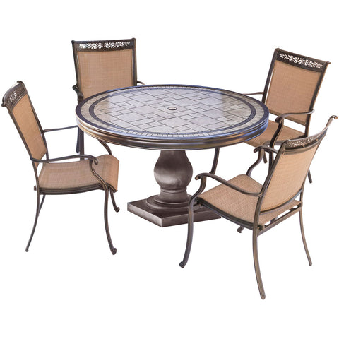hanover-5-piece-dining-set-51-inch-round-tile-top-table-4-sling-dining-chairs-includes-cover-fntdn5pctn-sc