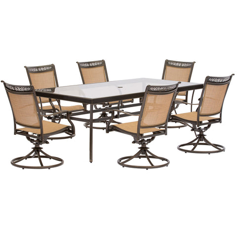 hanover-fontana-7-piece-6-sling-swivel-rockers-42x84-inch-glass-top-table-fntdn7pcswg