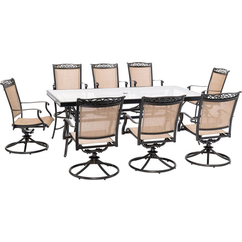 hanover-9-piece-dining-set-42x84-inch-glass-top-table-8-sling-swivel-rockers-cover-fntdn9pcswg-sc