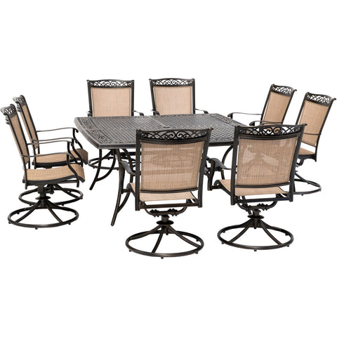 hanover-fontana-9-piece-8-sling-swivel-rockers-and-60-inch-square-cast-table-fntdn9pcswsqc