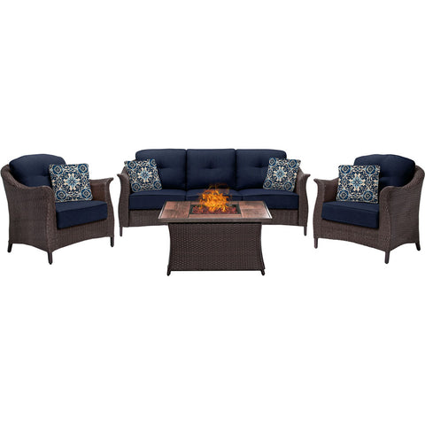 hanover-gramercy-4-piece-seating-fire-pit-set-with-wood-grain-tile-top-gram4pcfp-nvy-wg
