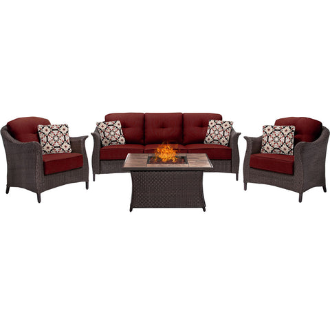 hanover-gramercy-4-piece-seating-fire-pit-set-with-tan-tile-top-gram4pcfp-red-tn