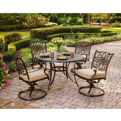 Hammond Adams 5Pc Outdoor Dining Set 4 Chairs & Round Table