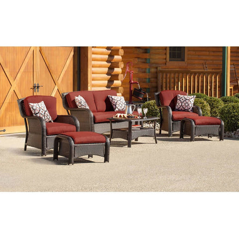 Hammond Atlantic 6Pc Patio Conversation Set With Loveseat, Ottomans - M&K Grills