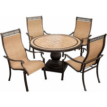 Hammond Brandywine 5Pc Outdoor Dining Set 4 Seats, Round Table - M&K Grills