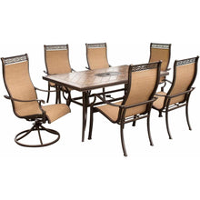 Hammond Brandywine 7Pc patio dining set 4 Chairs, 2 Swivel, Table - M&K Grills