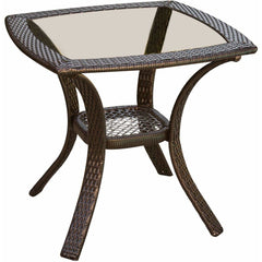 Hammond Brentwood 3Pc Outdoor Wicker Set 2 Swivel rockers & Table