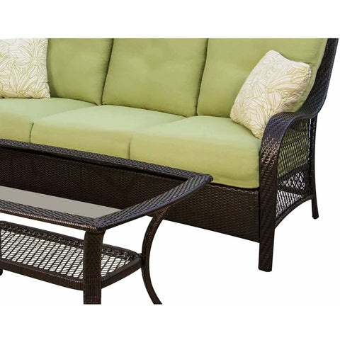 Hammond Brentwood Outdoor Conversation Set Sofa and Coffee Table - M&K Grills