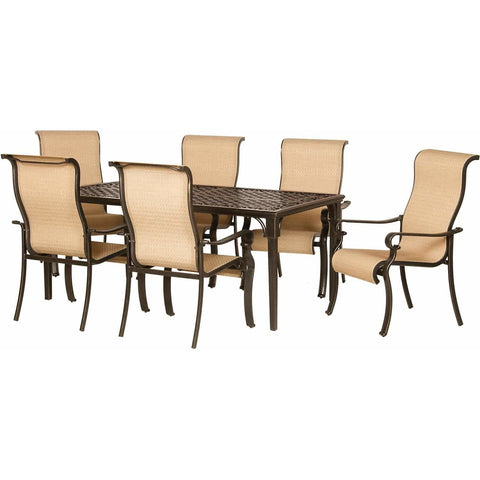 Hammond Brighton 7Pc Patio Dining Set 6 Chairs & Dining Table - M&K Grills