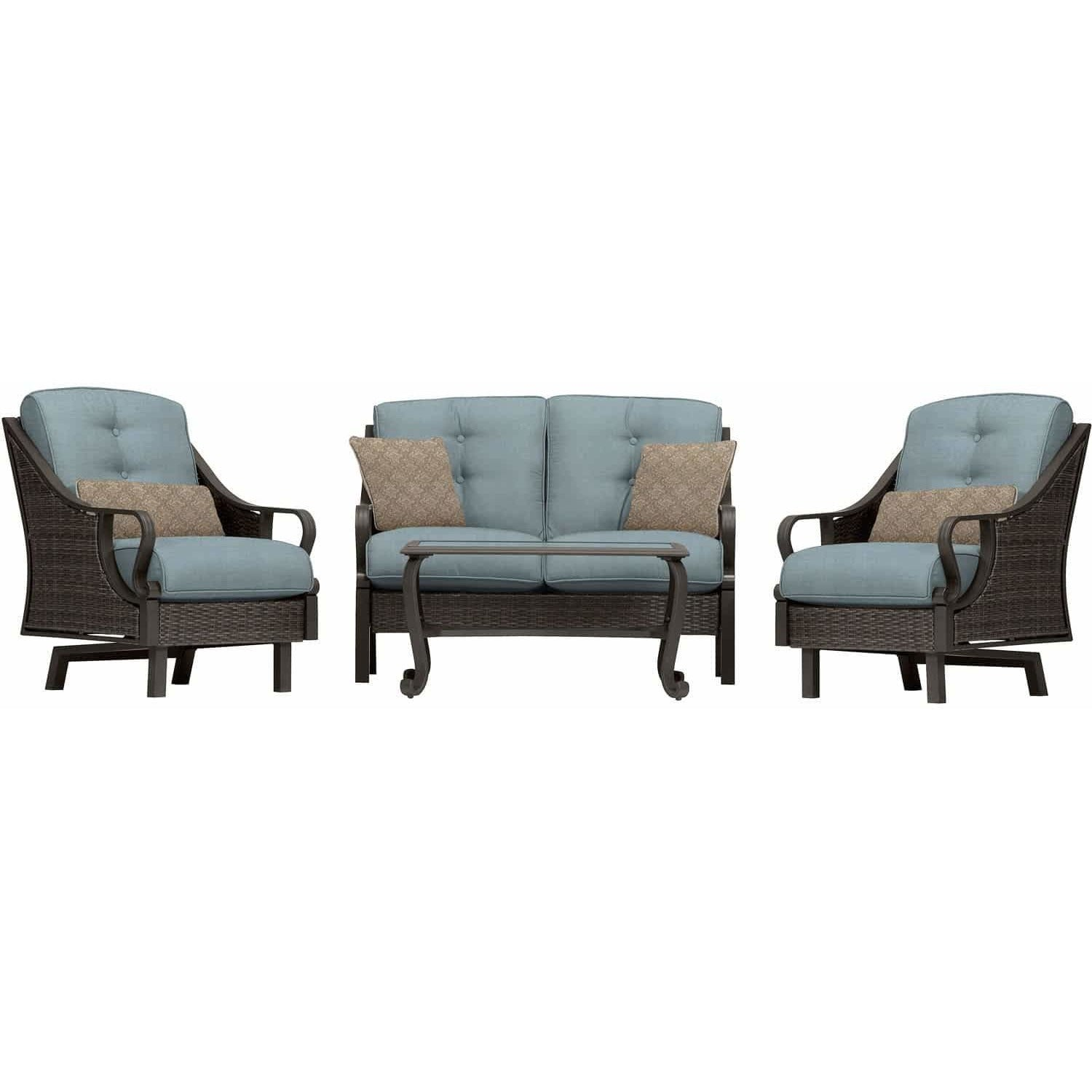 ... Hammond Casitas 4Pc Outdoor Sofa Set Sofa 2 Glider Chairs Coffee Table    Mu0026K Grills ...