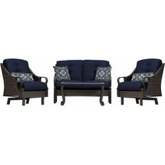 Hammond Casitas 4Pc Outdoor Sofa Set Sofa 2 Glider Chairs Coffee Table