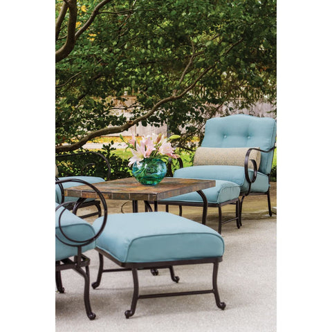 Hammond Lakeside 6Pc Outdoor Conversation Set Loveseat And Ottomans - M&K Grills