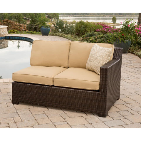 Hammond Stratton 5Pc Outdoor Conversation Set Ottoman And Loveseat - M&K Grills