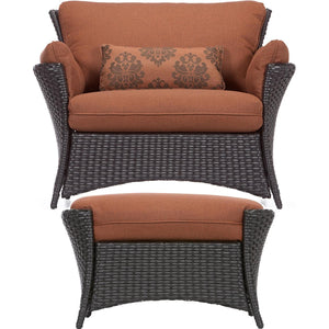 Hammond Tahoe 2Pc Outdoor Conversation Set With Ottoman - M&K Grills