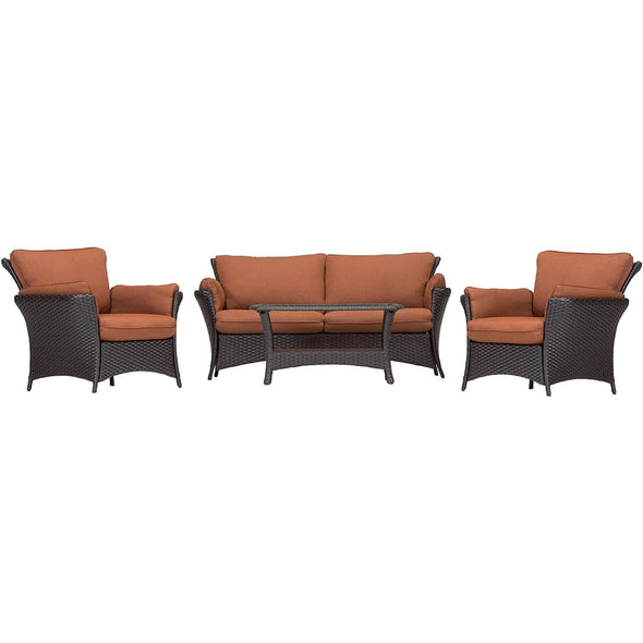 Hammond Tahoe 4Pc Outdoor Conversation Set Loveseat Coffee Table - M&K Grills