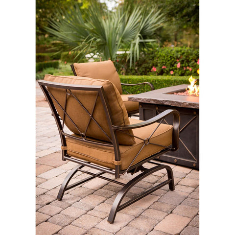 Hammond Wolf Crek 5Pc Fire Pit Table Set With Swivel Rockers - M&K Grills