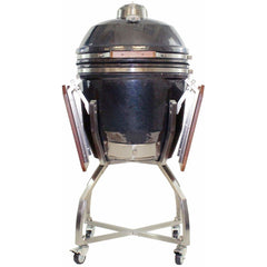 Heat 19″ ceramic kamado grill with accessories & cart HTK-19CSCA