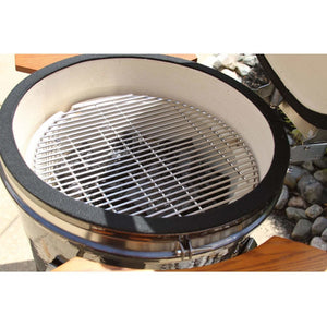 Heat 19 Inch Ceramic Kamado Grill w/Shelves + Cart, Graphite - M&K Grills