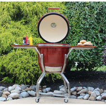 Heat Kamado Grill with cart and Shelves, Red HTK-19CS-RED - M&K Grills